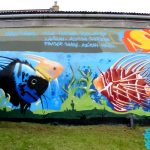 Sandwick fishes mural