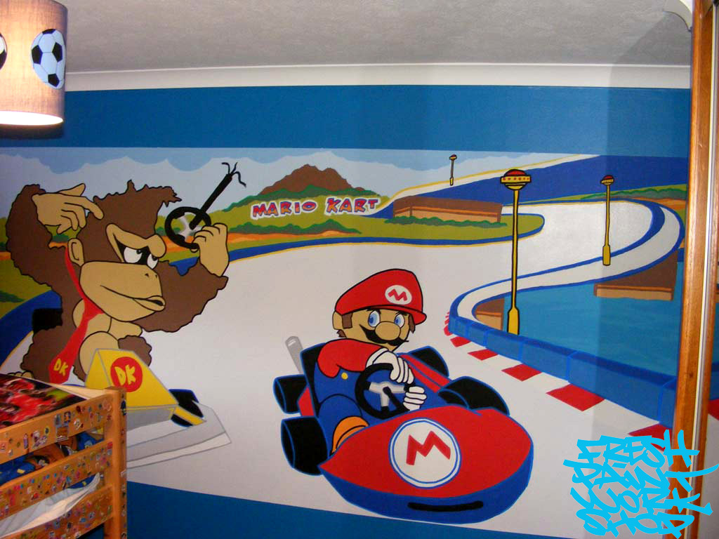 Kid 39 s bedroom mural service inverness fresh paint for Boys bedroom mural