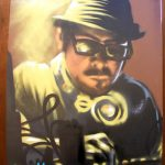 Dj aerosol on canvas