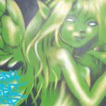 Green fairy aerosol canvas