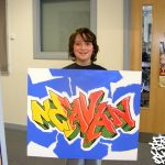 Painting workshop at Milburn academy, Inverness