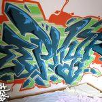 Zephyr's bedroom graffiti in Fraserburgh, Aberdeen
