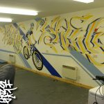 Bike shed mural project, Inverness