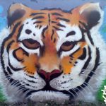 Tiger mural, Elgin