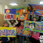 Canvas workshop, Milburn Academy