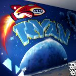 Kids bedroom mural, Aberdeen