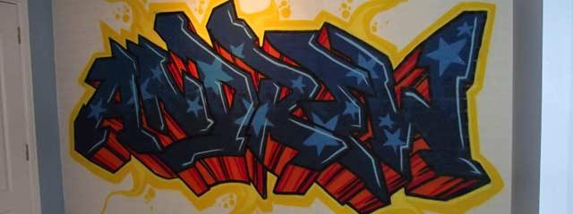 Kids Bedroom Mural Aberdeen FRESH PAINT - Bedroom graffiti art for kids