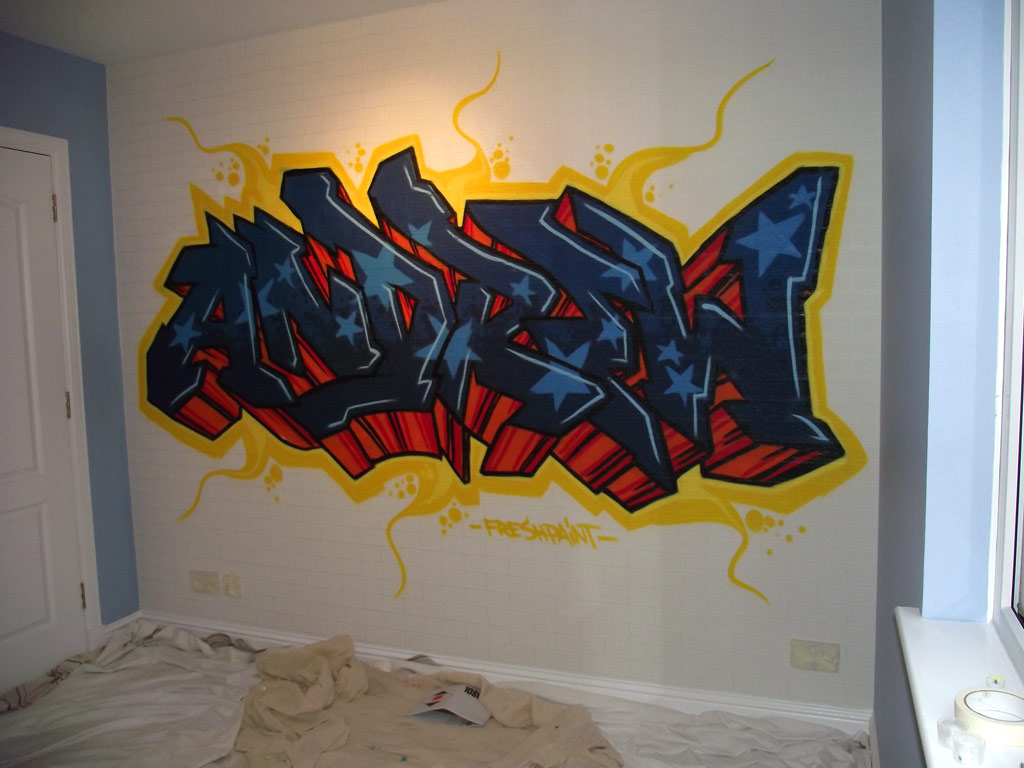 Graffiti wall art bedroom - More From Fresh Paint