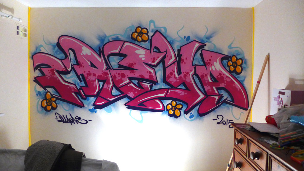 Freya Graffiti Bedroom FRESH PAINT