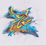 one letter graff battle