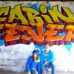 Graffiti workshop in Findhorn