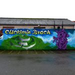 Graffiti mural brightens up Sandveien, Shetland