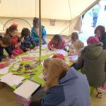Sketching workshop at the Nairn book festival