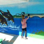 Mural workshop at Walker road School, Aberdeen