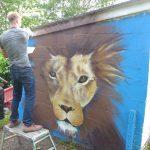 Spray can art lessons, Aberdeen