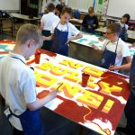Painting workshop at St Machar Academy, Aberdeen