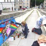 Mural workshop, environmental theme, Woodside Aberdeen