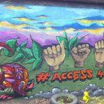 Mural workshop at Tullos community garden, Aberdeen