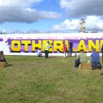 Otherland graffiti workshop, Belladrum festival, Highland