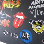 Music room band logos