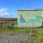 Aird Uig welcome sign