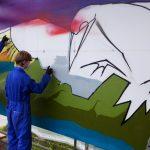 Viking bus station Art project, Lerwick