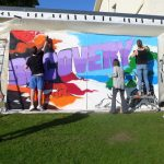 Graffiti workshop at the recovery walk Inverness