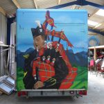 Halkirk highland games graffiti art