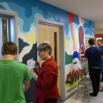 Mural workshop with care experienced young people at Dingwall Academy