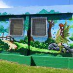 Graffiti mural workshop at Printfield community centre, Aberdeen